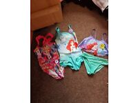Girls swimming bundle 4-5 & 5-6 yrs. All used but in very good condition. £7 for all three.