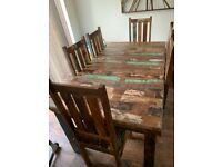 Reclaimed Indian 6 seater dining set