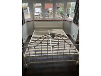 Metal double bed frame only