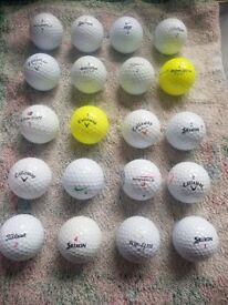Golf Balls - used but near mint condition