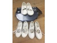 Tap shoes white various sizes