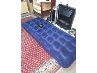 Single Air Bed with Electric Pump..£18.o.n.o.