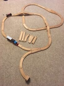 Ikea 40 pieces train track with train