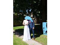 Wedding dress white size:16