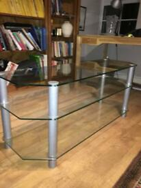 GREAT CONDITION GLASS TV STAND