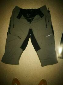 Endura mountain biking shorts and liner.