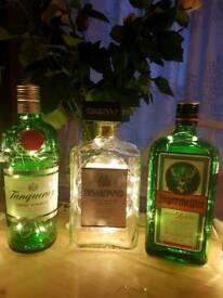 Upcycled bottle lights
