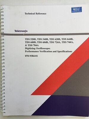 Tektronix Tds 520b 540b 620b 644b 680b 684b 724a 744a 784a Technical Reference