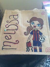 Handmade personalised jute bags