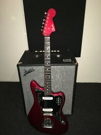 Fender Jaguar CIJ Apple Red with matching head stock for sale
