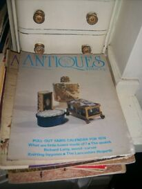 Piles of Antiques and Field Magazines