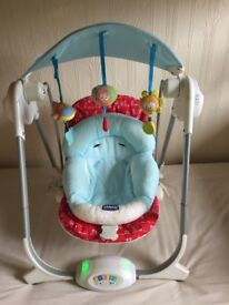 Chicco baby swing with insert for a newborn
