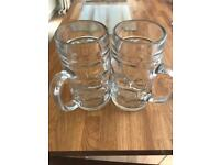 2 x Dimple Beer Glasses