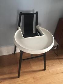 Blames Ikea black highchair with removable tray