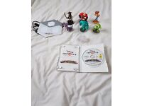Wii Disney infinity game and 7 podium character/places