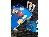 Mickey mouse table an chairs