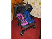 Joie double pushchair for sale