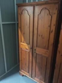 Ducal honey pine 2 door wardrobe.