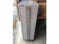 Rare Bisley 30 drawer filing cabinet