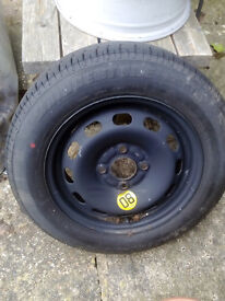 """14"""" full spare steel wheel with tyre."""