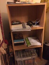 Small wood effect storage unit