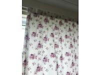Floral curtains 66 x72