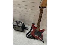 Squier by Fender Affinity Strat HSS Starter Pack in Candy Apple Red With Amp