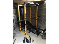 Powertec Work Bench Power Rack (Yellow) + many extras