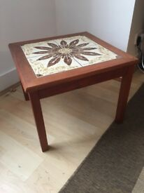 Tiled wooden coffee table