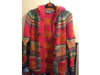 Next colourful knitted coat