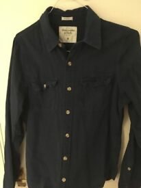 Abercrombie & Fitch Casual Men's Shirt - Medium - Great Condition - Navy Blue