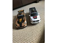 2 x battery powered cars