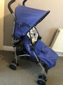 Mamas & papas blue swirl with cosy toes &a rain cover