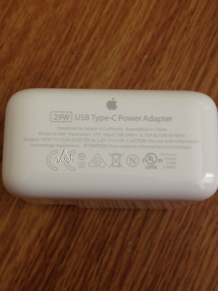 Genuine Apple 29w Usb C Power Adapter A1540 Charger For