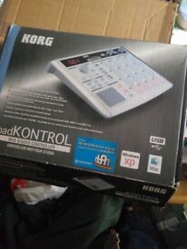 Korg Padkontrol. Boxed with manual/DFH software. Superb white issue.