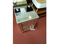 Schreiber Cranbourne 2 Drawer Bedside Chest - Mirrored