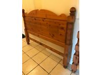 5 foot king size Solid Pine Bed and Mattress