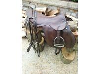 Horse Saddle with bridle