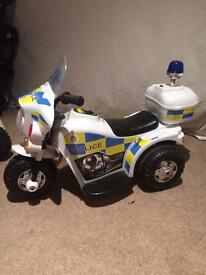 KIDS POLICE MOTOR BIKE