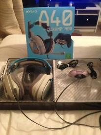 Astro A40 + Mixamp M80 headset