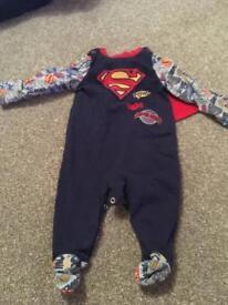 0-3 month superhero clothes batman, superman outfits
