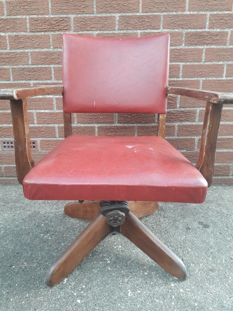 Old Vintage Industrial Captains Swivel Desk Chair Computer Chair Project In Hull East Yorkshire Gumtree