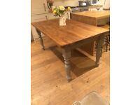 Beautiful chunky farmhouse dining table