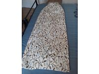 """Heritage Teal Glava Pencil Pleat Curtains with tie backs. Nearly new!! 52"""" wide x 56"""" drop."""