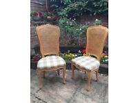 6 elegant dining chairs