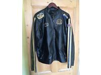 No Fear men's Large black leather jacket