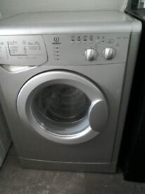 silver indesit 6kg load 1400 spin free local delivery allelectricals