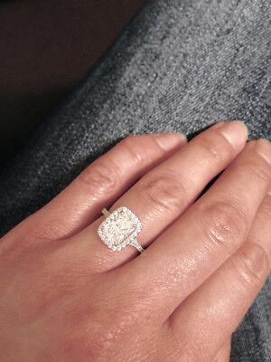 3.21 Ct Cushion Cut Diamond Halo Engagement Bridal Ring Set G, VVS2 GIA Natural 5