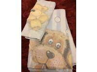 Dog + Teddy Bear single bedding set