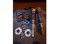 Bmw e46 coilovers and hub centric spacers (lowering)